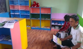 Library at Thecho orphanage.